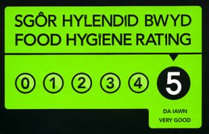 5 Food Hygiene rating